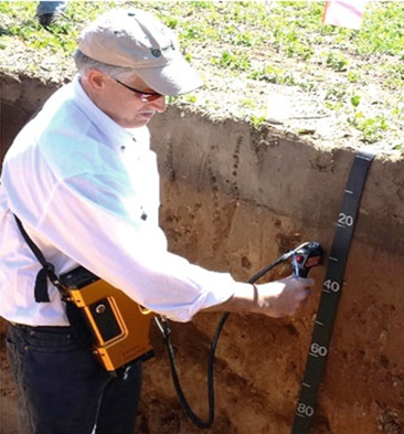 PSR+ used in a soil pit